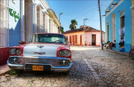 A beautiful vintage car in Cuba