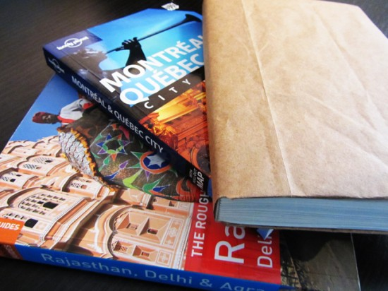 Covered guidebook