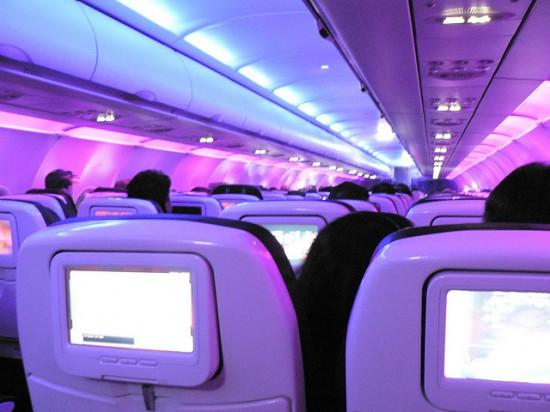 Virgin Plane Seat-back Screens