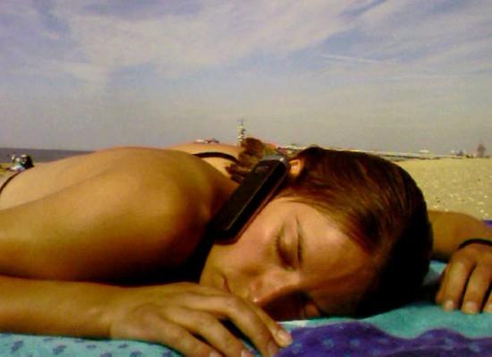 Asleep on beach