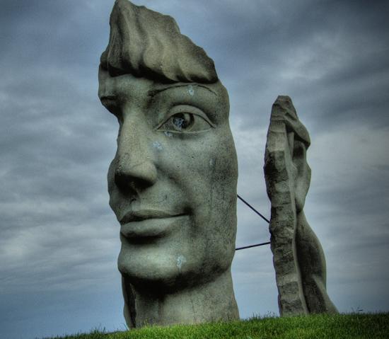 Lachine Face Sculpture