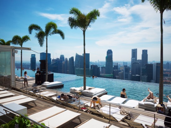 SkyPark pool during the day