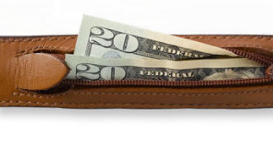 Leather money belt