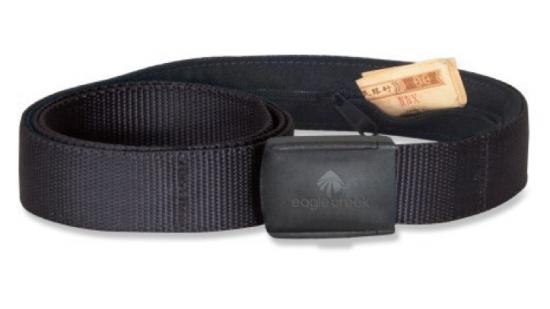 Sporty belt with hidden zip