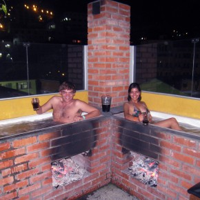 Enjoy a wood-fired outdoor beer spa for free in La Paz, Bolivia (really)