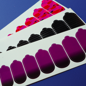 Nail stickers for manicures on the go