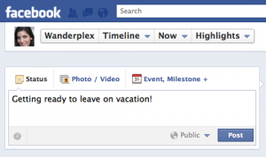 Posting about your vacation on social media may lead to trouble.