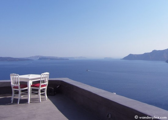 Andronis Boutique Hotel caldera view dining