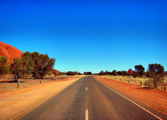The road by Uluru
