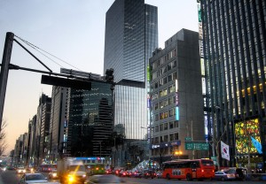 Gangnam is a real place in Seoul, South Korea that travelers can visit. Photo by Joop.