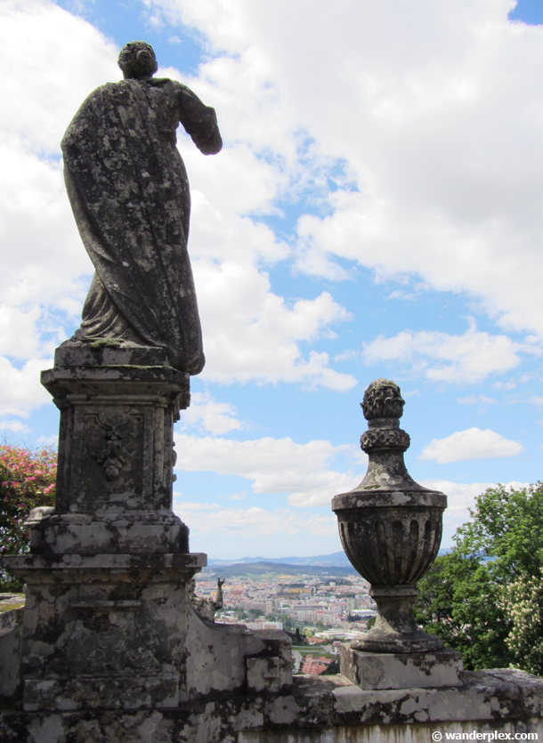 ornamental stairs at Bom Jesus in Braga