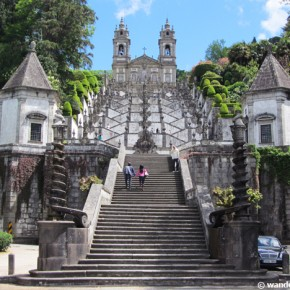 The Sacred Stairs Of Bom Jesus In Braga, Portugal